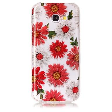 غطاء من أجل Samsung Galaxy A5(2017) A3(2017) IMD نموذج غطاء خلفي بريق لماع زهور ناعم TPU إلى A3 (2017) A5 (2017)