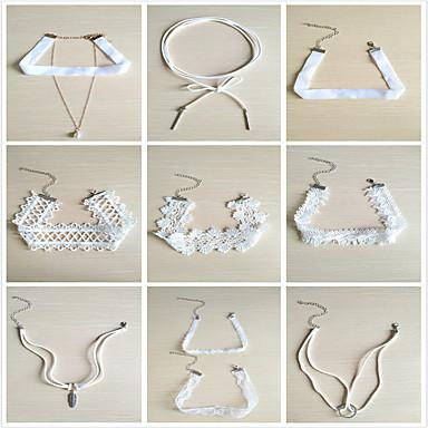 Damen Halsketten Anhängerketten Ketten Synthetischer Diamant Personalisiert Modisch Multi-Wege Wear Euramerican Alltagskleidung Alltag
