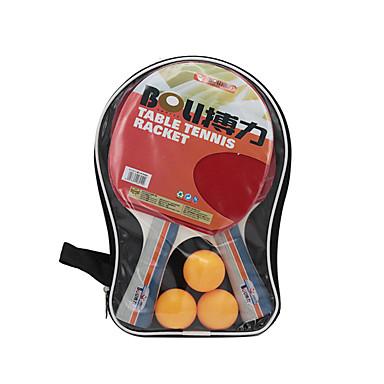 Ping Pang/Πινγκ πονγκ Ρακέτες Ping Pang/Πινγκ πονγκ Μπάλα Ping Pang Καουτσούκ Μακριά Λαβή Σπυράκια 2 Ρακέτα 3 Μπαλάκια επιτραπέζιου τένις