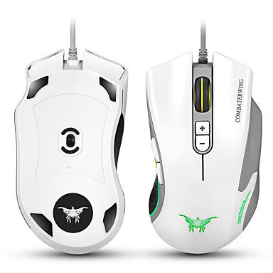 Cw10 4800 dpi bedraad gaming muis muizen 7 knoppen ontwerp 6 ademhalingskleuren veranderen hoge precisie voor gamer pc mac