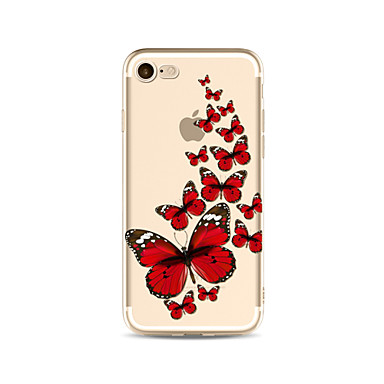 Maska Pentru Apple iPhone X iPhone 8 Plus Transparent Model Capac Spate Fluture Moale TPU pentru iPhone X iPhone 8 Plus iPhone 8 iPhone 7