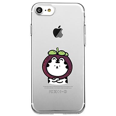 Für iphone 7 plus 7 Fallabdeckung transparente Muster rückseitige Abdeckungsfallfruchtkarikatur weiches tpu für iphone 6s plus 6s 6 plus 6