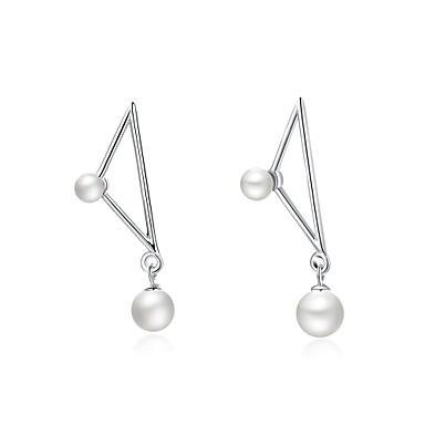 Damen Tropfen-Ohrringe Kubikzirkonia Imitierte Perlen Personalisiert Luxus Geometrisch Kreisförmiges Einzigartiges Design Anhänger Stil