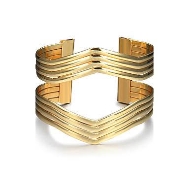 Dames Cuff armbanden Modieus Punk Legering Geometrische vorm Sieraden Kerstcadeaus Verjaardag Lahja mielitietty Kostuum juwelen