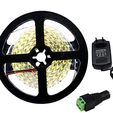 36W Flexible LED-Leuchtstreifen 3450-3550 lm DC12 V 5 m 300 Leds Warmweiß Weiß