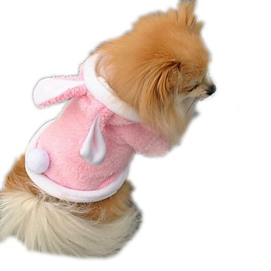 قط كلب ازياء تنكرية ملابس الكلاب قطن بطانة فرو شتاء ربيع/الصيف الكوسبلاي صلب أرجواني أحمر زهري للحيوانات الأليفة