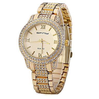 Pentru femei Simulat Diamant Ceas Unic Creative ceas Ceas La Modă Chineză Quartz imitație de diamant Metal Bandă Sclipici Auriu