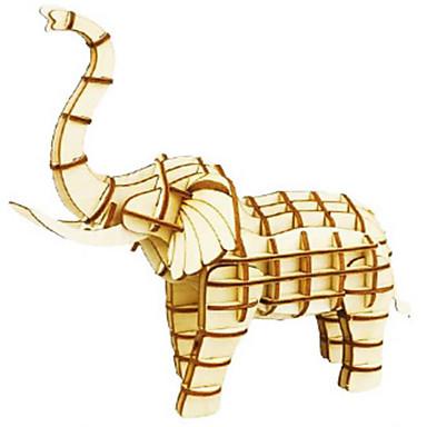 Robotime قطع تركيب3D تركيب النماذج الخشبية مجموعات البناء حيوان 3D اصنع بنفسك خشب الخشب الطبيعي كلاسيكي للأطفال للجنسين هدية