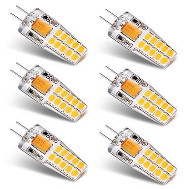 3W G4 أضواء LED Bi Pin T 20 الأضواء SMD 2835 أبيض دافئ أبيض 300lm 3000-3500   6000-6500K AC/DC 12V