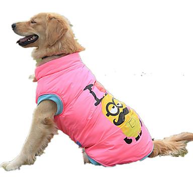 Hond Gilet Donzen jacks Hondenkleding Casual/Dagelijks Cartoon Geel Roze Kostuum Voor huisdieren