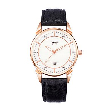 Herrn Modeuhr Armbanduhr Armbanduhren für den Alltag Quartz Echtes Leder Band Schwarz Braun