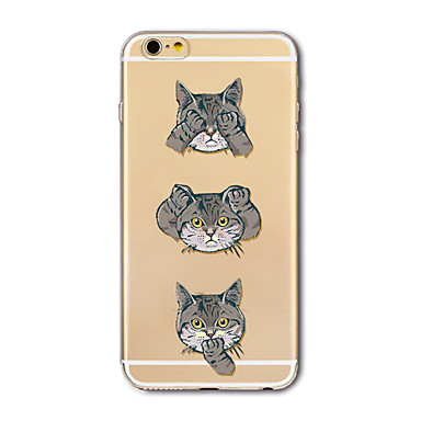 hoesje Voor Apple iPhone X iPhone 8 Plus Transparant Patroon Achterkantje Kat Cartoon Zacht TPU voor iPhone X iPhone 7s Plus iPhone 8