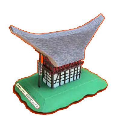 Puzzle 3D Lucru Manual Din Hârtie Clădire celebru Casă Arhitectură Reparații Hârtie Rigidă pentru Felicitări Pentru copii Băieți Unisex