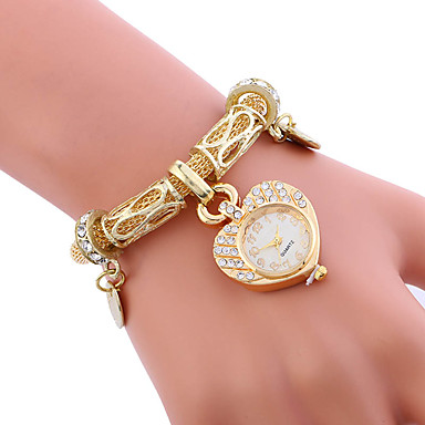 Dames Unieke creatieve horloge Armbandhorloge Modieus horloge Sporthorloge Vrijetijdshorloge Kwarts Legering Band Amulet Luxe Creatief