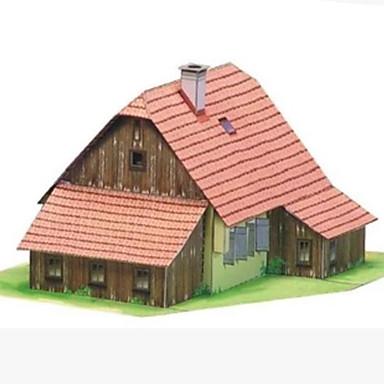 3D - Puzzle Papiermodelle Spielzeuge Quadratisch Haus 3D Heimwerken Hartkartonpapier Unisex Stücke