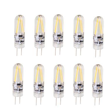 2W أضواء LED Bi Pin T 2 COB 200 lm أبيض دافئ أبيض كول V 10 قطع