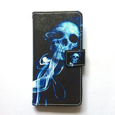 Caz pentru huawei p8 portbagaj capac portbagaj portofel cu stand flip model carcasă plin caz craniu hard pie piele