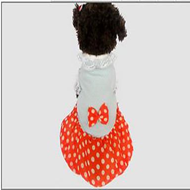 Hund Mäntel Kleider Hundekleidung Punkt Orange Baumwolle Kostüm Für Haustiere Sommer Damen Lässig / Alltäglich