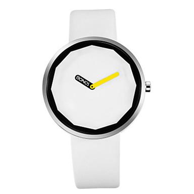 Heren Modieus horloge Kwarts Leer Band minimalistische Zwart Wit