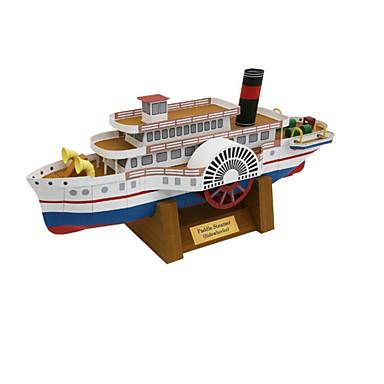 3D-puzzels Bouwplaat Papierkunst Modelbouwsets Vierkant Schip 3D Simulatie DHZ Hard Kaart Paper Klassiek Unisex Geschenk