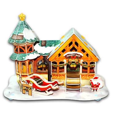 Puzzle 3D Puzzle Μοντέλα και κιτ δόμησης Jucarii Crăciun Clădire celebru Casă Arhitectură 3D Reparații Hârtie Rigidă pentru Felicitări Ne