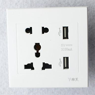 نوع 86 أوسب * 2 منفذ الطاقة 2 بت 3 بت الأبيض عالية الجودة الإضاءة التبعي