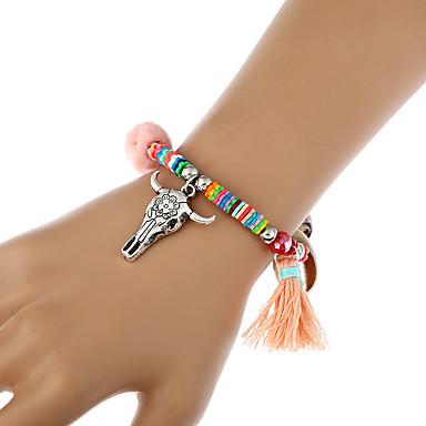 Dames Armbanden met ketting en sluiting Bedelarmbanden Strand Armbanden Bohemia Style Met de hand gemaakt TurksBamboe Vezel Acryl
