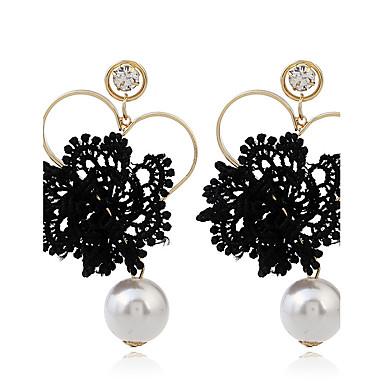 Damen Tropfen-Ohrringe Imitierte Perlen Vintage individualisiert Spitze Aleación Herzform Schmuck Für Alltagskleidung Normal Bühne