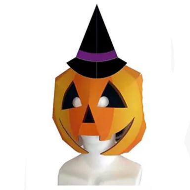 DHZ-kit Halloweenmaskers Speeltjes Vierkant Pompoen 3D Hard Kaart Paper Horror Theme Stuks Niet gespecificeerd Halloween Geschenk