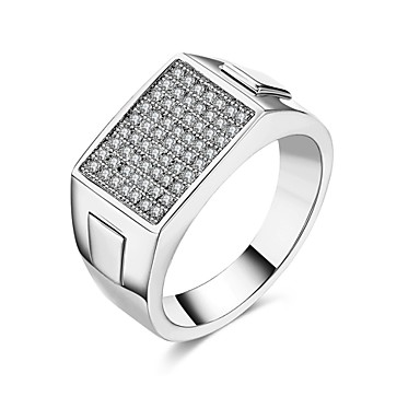Dames Ring Kubieke Zirkonia Gepersonaliseerde Luxe Meetkundig Uniek ontwerp Klassiek Vintage Tekojalokivi Bohémien Standaard Hart Cirkel