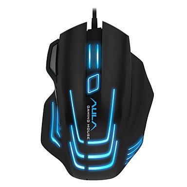 Aula 7 buton mouse-ul reglabil cu mouse-ul reglabil cu ediție neagră cablată cu cablu de 180 cm