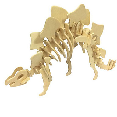 قطع تركيب3D تركيب النماذج الخشبية مجموعات البناء ديناصور حيوان 3D محاكاة اصنع بنفسك خشب الخشب الطبيعي كلاسيكي للأطفال للجنسين هدية
