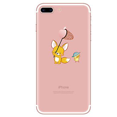 من أجل iPhone X إفون 8 iPhone 8 Plus أغط / كفرات شفاف نموذج غطاء خلفي غطاء كارتون ناعم TPU إلى Apple iPhone X iPhone 8 Plus iPhone 8 فون