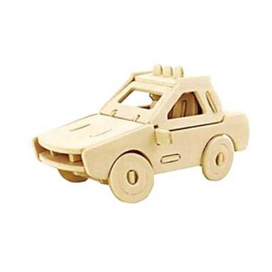 لعبة سيارات قطع تركيب3D تركيب النماذج الخشبية سيارة 3D الحيوانات اصنع بنفسك خشب الخشب الطبيعي سيارة الشرطة للجنسين هدية