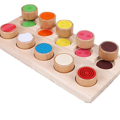 Montessori leermiddel Bouwblokken Educatief speelgoed Speeltjes Onderwijs Puinen Hout Kind Stuks