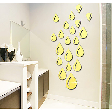 Autocolante de Perete Decorative - Acțibilduri de Oglindă Abstract Forme #D Sufragerie Dormitor Cameră de studiu / Birou