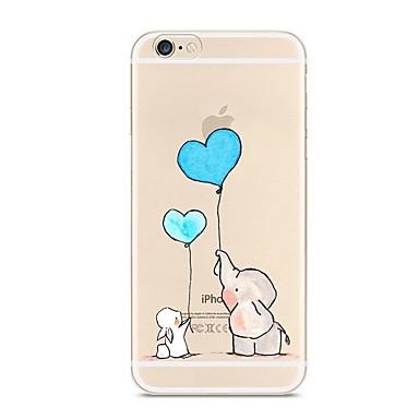 Für iPhone X iPhone 8 Hüllen Cover Transparent Muster Rückseitenabdeckung Hülle Elefant Weich TPU für Apple iPhone X iPhone 8 Plus iPhone