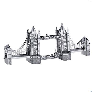 قطع تركيب3D تركيب تركيب معدني دبابة قصر بناء مشهور معمارية ألمنيوم معدن للأطفال في سن المراهقة صبيان هدية