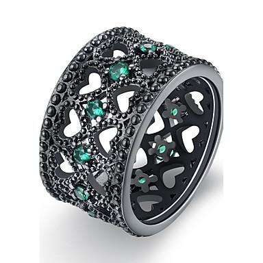 Dames Koper Ring - Uniek ontwerp Vintage Groen Blauw Licht Roze Ring Voor Verjaardag Feest / Avond Lahja Dagelijks