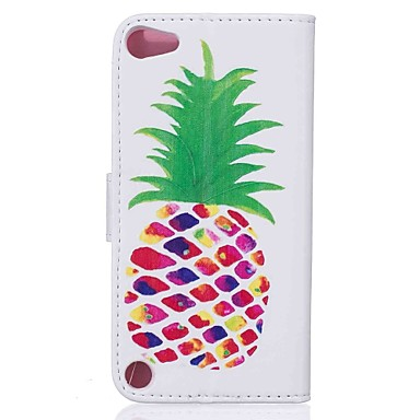 Voor case cover patroon full body case met stylus fruit hard pu leer voor appel ipod touch 5 touch 6