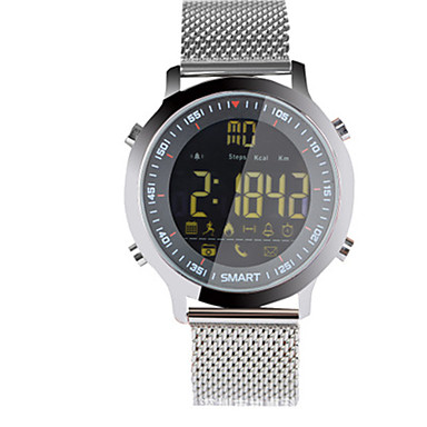 Herrn Damen Smart Uhr digital Legierung Band Silber Orange