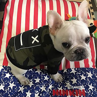 Hond Sweatshirt Hondenkleding camouflage Meetkundig Rood camouflage kleur Katoen Kostuum Voor huisdieren Zomer Heren Dames Stijlvol