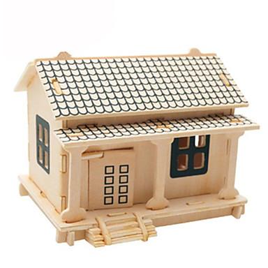 Puzzle 3D Puzzle Modele de Lemn Aeronavă Clădire celebru Casă Reparații Hârtie cărți de masă Lemn Clasic Pentru copii Unisex Cadou
