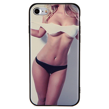 Hoesje voor apple iphone 7 plus 7 hoesje reliëf patroon achterhoes hoesje sexy dame soft tpu 6s plus 6 plus 6s 6 5 5s