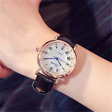 Dames Modieus horloge Polshorloge Kwarts Leer Band Zwart Wit Roze
