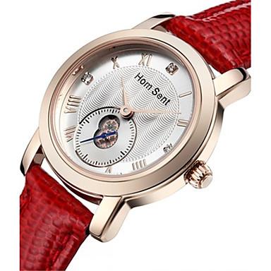 Dames Modieus horloge Polshorloge Kwarts Waterbestendig Leer Band Wit Rood Bruin Roze