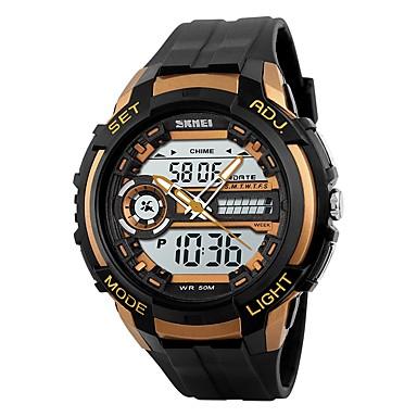 SKMEI Bărbați Ceas digital Ceas La Modă Ceas de Mână Ceas Sport Piloane de Menținut Carnea PU Bandă Negru