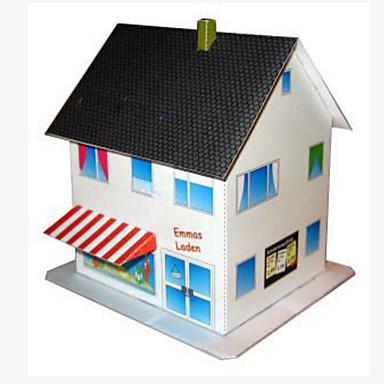 قطع تركيب3D نموذج الورق أشغال الورق مجموعات البناء مربع بناء مشهور بيت معمارية 3D اصنع بنفسك ورق صلب كلاسيكي للجنسين هدية
