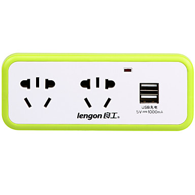Lengon xd-q302u au plug telefon usb încărcător fâșii de alimentare 3 prize 2 porturi usb 10a ac 100v-250v
