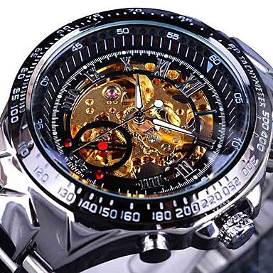 للرجال داخل الساعة أتوماتيك ووتش الميكانيكية / ساعة المعصم صيني كوول / ساعة كاجوال ستانلس ستيل فرقة كاجوال / أنيقة / موضة فضة